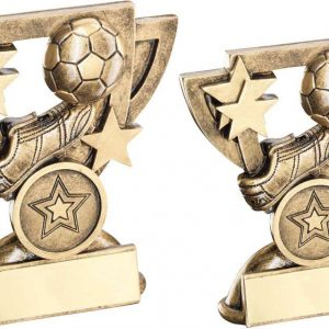 BRZ/GOLD FOOTBALL MINI CUP TROPHY