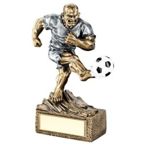 BRZ/PEW FOOTBALL 'BEASTS' FIGURE TROPHY -6.75in