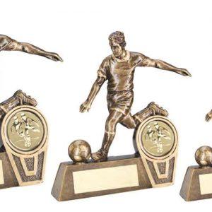BRZ/GOLD MINI MALE FOOTBALL FIGURE TROPHY – (1in CE