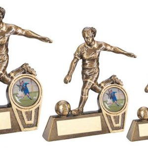 BRZ/GOLD MINI FEMALE FOOTBALL FIGURE TROPHY