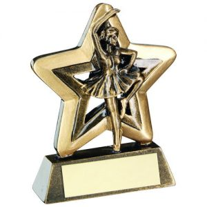 BRZ/GOLD BALLET MINI STAR TROPHY – 3.75in