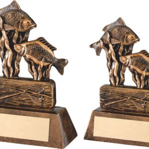 BRZ/GOLD RESIN ANGLING TROPHY