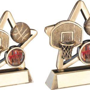 BRZ/GOLD BASKETBALL MINI STAR TROPHY
