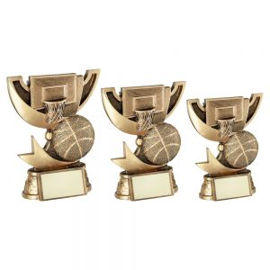 BRZ/GOLD CUP RANGE FOR BASKETBALL TROPHY