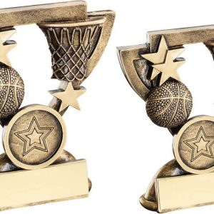 BRZ/GOLD BASKETBALL MINI CUP TROPHY