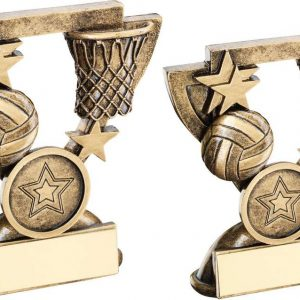 BRZ/GOLD NETBALL MINI CUP TROPHY