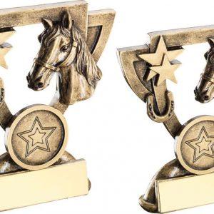 BRZ/GOLD HORSE MINI CUP TROPHY
