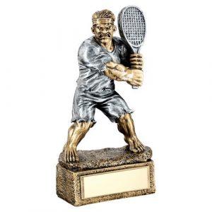 BRZ/PEW TENNIS 'BEASTS' FIGURE TROPHY – 6.75in