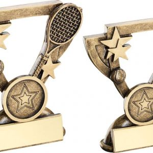 BRZ/GOLD TENNIS MINI CUP TROPHY