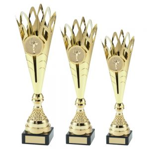 GOLD PLASTIC SPIKEY TROPHY