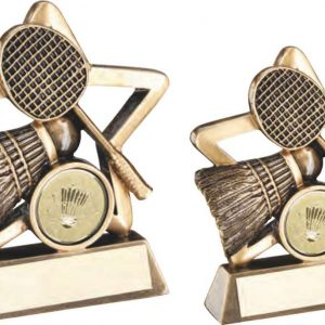 BRZ/GOLD BADMINTON MINI STAR TROPHY