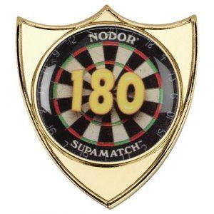DARTS '180' METAL SHIELD BADGE – 1.5in