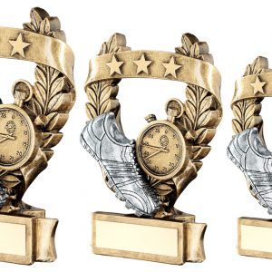 BRZ/PEW/GOLD ATHLETICS 3 STAR WREATH AWARD TROPHY