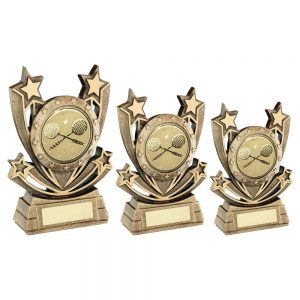 BRZ/GOLD SHOOTING STAR SERIES WITH SQUASH INSERT TROPHY