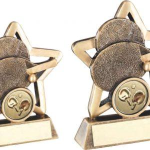 BRZ/GOLD TABLE TENNIS MINI STAR TROPHY