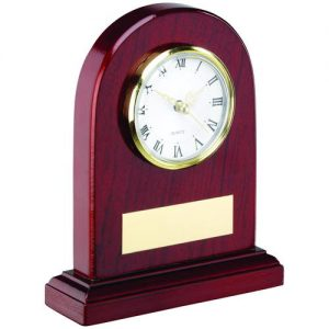 ARCHED WOODEN CLOCK TROPHY – 6in