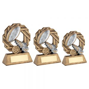 BRZ/PEW/GOLD RUGBY OCTO RIBBON SERIES TROPHY