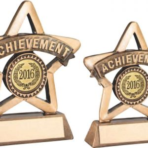 BRZ/GOLD RESIN ACHIEVEMENT MINI STAR TROPHY
