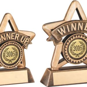 BRZ/GOLD RESIN' MINI STAR TROPHY – R UP