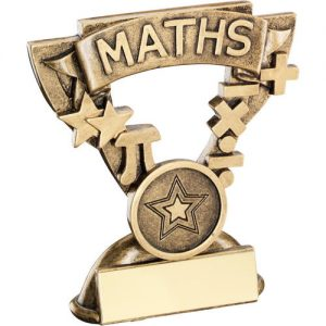 BRZ/GOLD MATHS MINI CUP TROPHY – (1in CENTRE) 3.75in