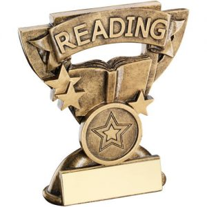 BRZ/GOLD READING MINI CUP TROPHY – (1in CENTRE) 3.75in