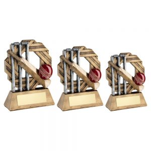 BRZ/PEW/RED CRICKET OCTO RIBBON SERIES TROPHY