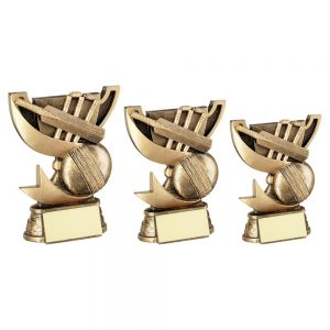 BRZ/GOLD CUP RANGE FOR CRICKET TROPHY