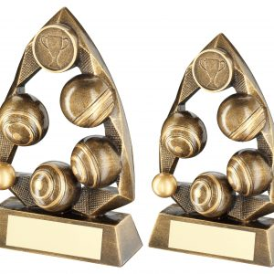 BRZ/GOLD LAWN BOWLS DIAMOND COLLECTION TROPHY