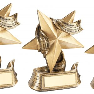 BRZ/GOLD STAR AND RIBBON AWARD TROPHY