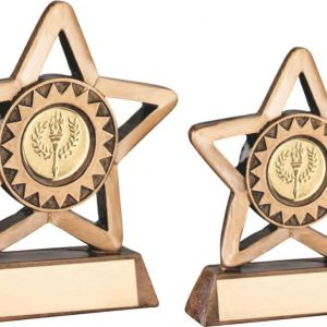 BRZ/GOLD RESIN GENERIC MINI STAR TROPHY