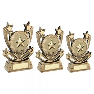 BRZ/GOLD SHOOTING STAR SERIES GENERIC TROPHY