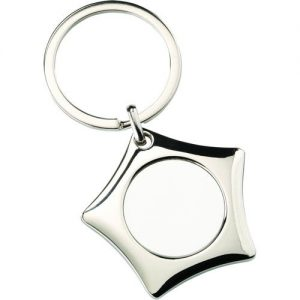 METAL STAR KEYRING – (1in CENTRE) 1.75in