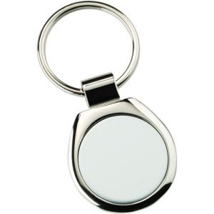 METAL ROUND KEYRING – (1in CENTRE) 1.75in
