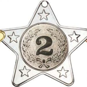 STAR SHAPED MEDAL WITH 5 MINI STARS (1in CENTRE)
