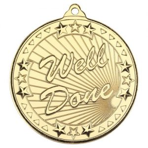 WELL DONE 'TRI STAR' MEDAL – GOLD 2in