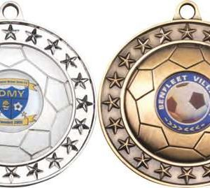 FOOTBALL MEDAL LARGE (1in CENTRE)