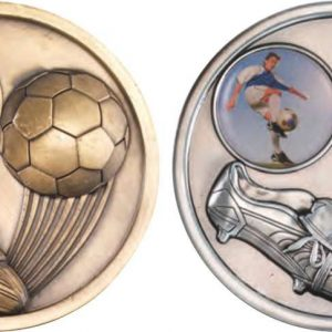 FOOTBALL AND BOOT MEDALLION (1in CENTRE)
