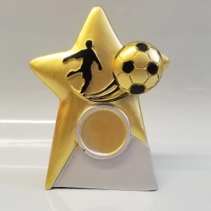 SPECIAL OFFER Mini Gold Star Football Trophy – 105mm