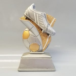 SPECIAL OFFER Silver Football & Boot Trophy – 150mm