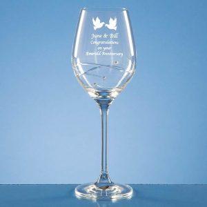 Diamante Wine Glass