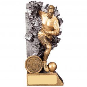 Breakout Male Football Trophy