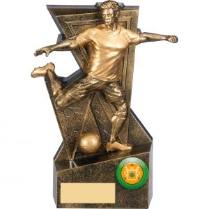 Legacy Bronze & Gold Male Footballer