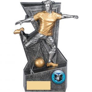 Legacy Silver & Gold Male Footballer