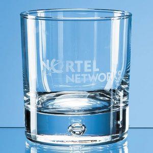 Bubble Base Plain Whisky Glass 330ml