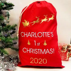 '……..'s First Christmas' Present Sack