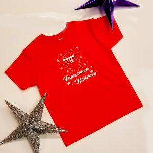 Personalised '……. Believes' Santa T-Shirt