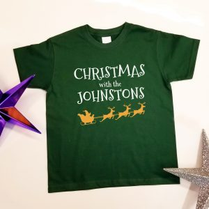 Personalised 'Christmas with the………' T-Shirt