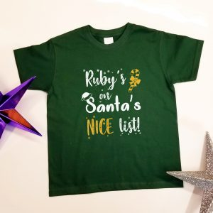 Personlised 'Santa's Nice List' T-Shirt
