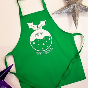 Adults Personalised 'Christmas Pudding' Apron