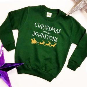 'Christmas with the ………..' Christmas Sweatshirt